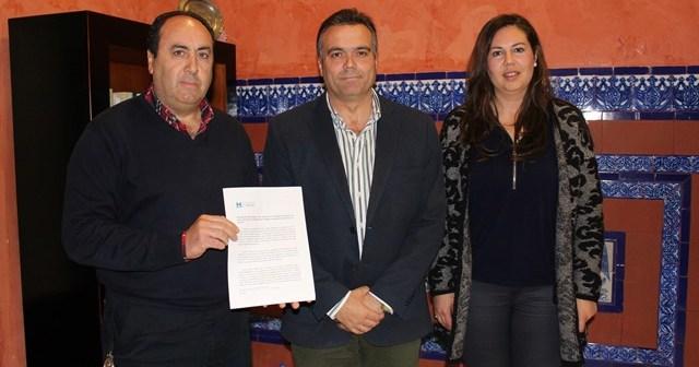 La Palma CF en la Diputación de Huelva.