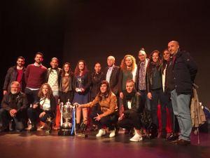 Fundación Cajasol Sporting recibiendo los premios de la AOPD.
