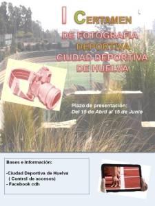 Cartel del certamen de fotografía de la Ciudad Deportiva.