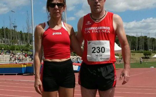 Rocío Galán e Iván López, veteranos atletas palmerinos.