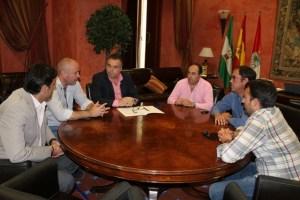 Reunión del Ayuntamiento de La Palma con La Palma CF.