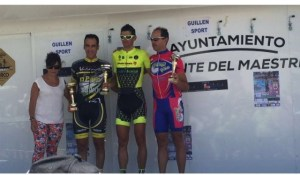 Raúl Nieto, en el podium.