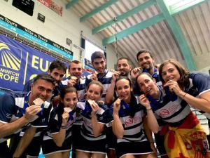 Plantilla del Recreativo IES La Orden en el Campeonato de Europa.