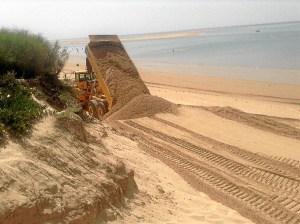 Obras playa Portil