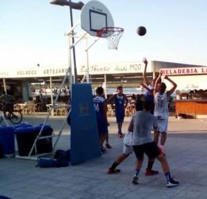 Circuito tres por tres de baloncesto.