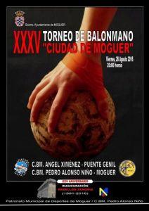 Cartel del Trofeo de balonmano 'Ciudad de Moguer'