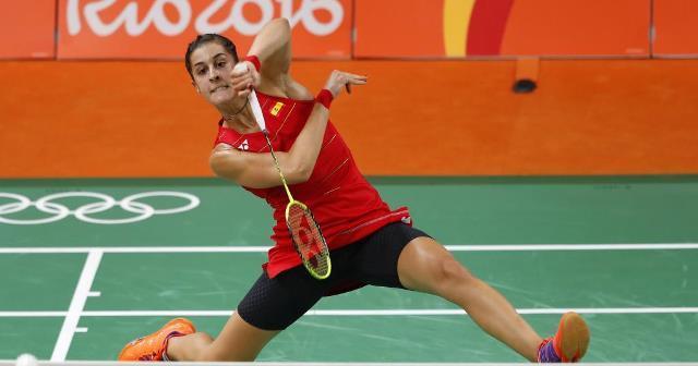Carolina Marín, en las Olimpiadas de Río de Janeiro.