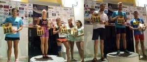 Ganadores de las distintas categorías de la I Carrera Nocturna en Beas.