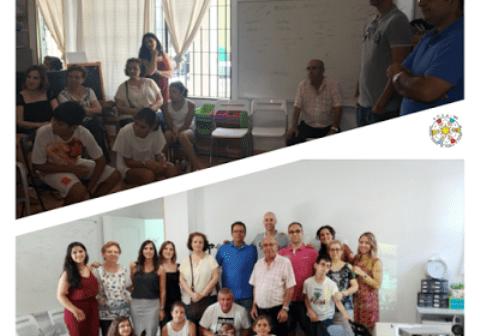 José Manuel Sierra visitando a la Asociación Onubense de Síndrome de Asperger.