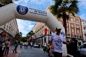 Rodrigo Ruiz a su llegada a Huelva.