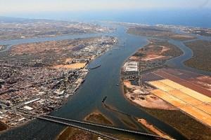 Panoramica Puerto de Huelva