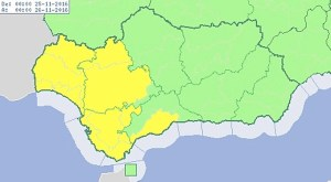alerta amarilla lluvia