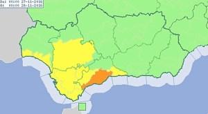 aviso amarillo lluvias