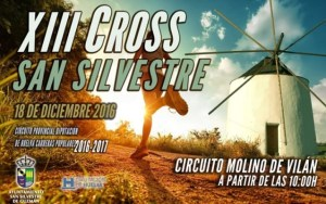 Cartel del Cross en San Silvestre.