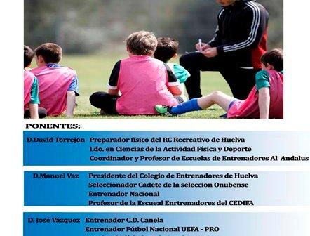 Cartel del curso de entrenador en Ayamonte.