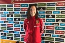 Sara Serrat, con la Selección Española.