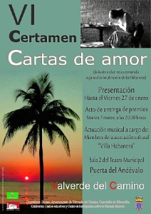 Cartel Certamen Cartas de Amor Valverde