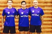 Equipo del Maristas Huelva de tenis de mesa.