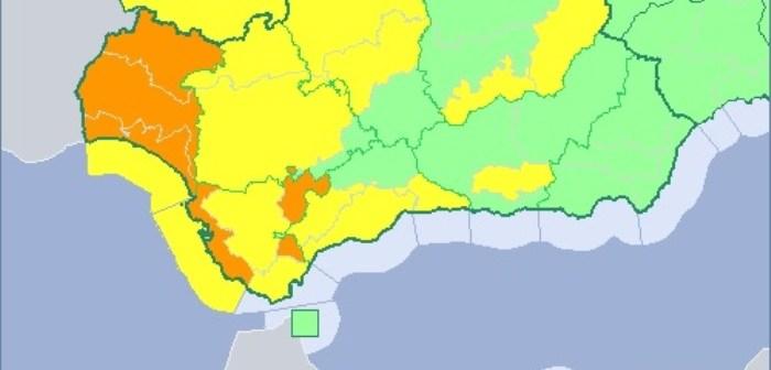 Aviso naranja por viento en la provincia de Huelva