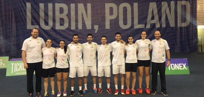 Selección Española en el Campeonato de Europa mixto de bádminton.