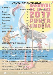 Festejos Carnaval Punta Precios Entradas