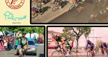 Cartel del Circuito ciclista en La Palma del Condado.