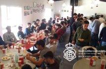 Comida de hermandad de la plantilla y cuerpo técnico del Recreativo de Huelva.