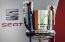 Trofeo de Copa del Rey de fútbol.