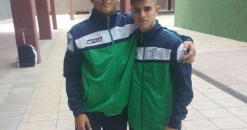 Rosendo Laíno y Francisco García, judocas del Huelva TSV.