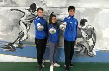 Tiradores infantiles del Club Esgrima Huelva.