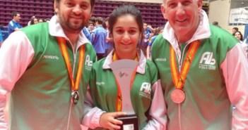 Laura Uranga, subcampeona de España infantil de voleibol.
