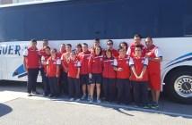 Equipo del CODA para el Campeonato de Andalucía de natación.