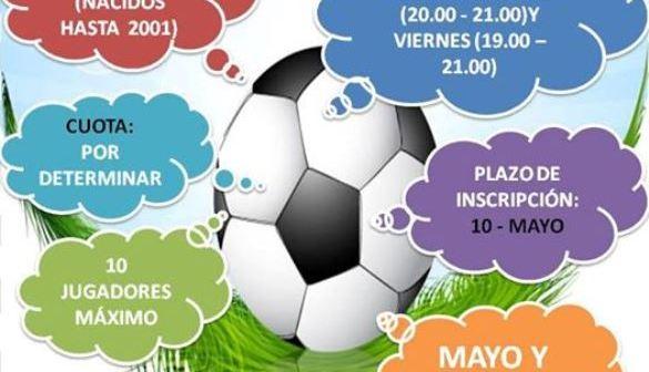 Cartel de I Liga Local Futsal en San Bartolomé de la Torre.