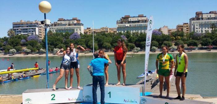 Podium del Campeonato de Andalucía de piragüismo.