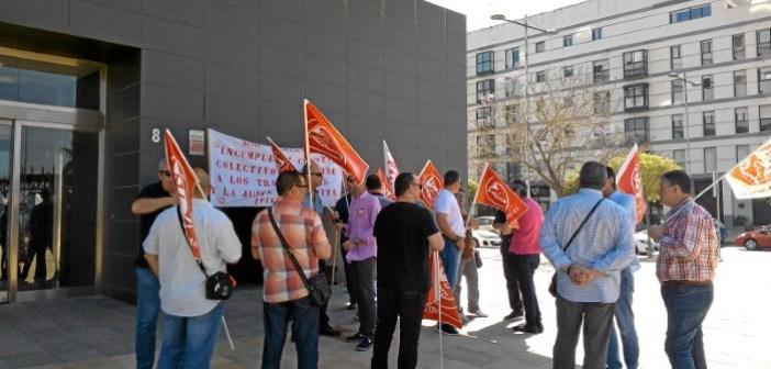 Protesta trabajadores seguridad (1)