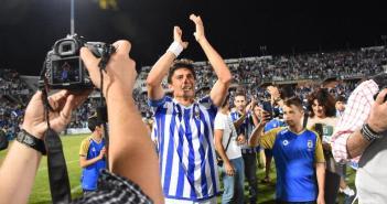 Jesús Vázquez, en su retirada como futbolista.