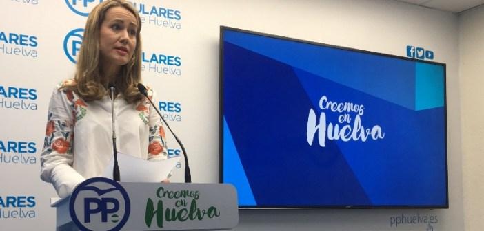 Bella Verano en rueda de prensa en el PP