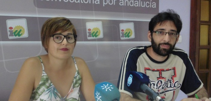 Isabel Lancha y Alejandro Santos (IU Nerva)