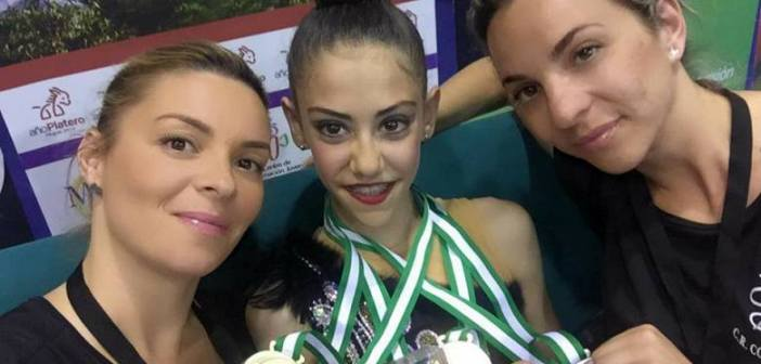 Ángela Martín, gimnasta onubense.