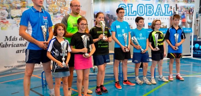 Cuadro de ganadores del Top Andaluz de tenis de mesa.