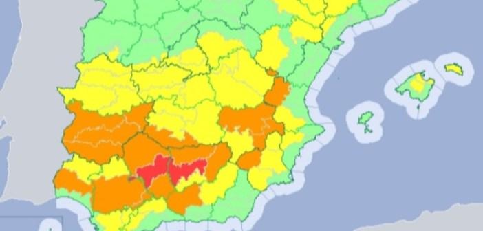 Alerta naranja y amarilla en Huelva