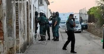 Incendio y detención en Minas de Riotinto.