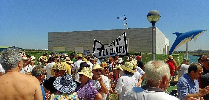 Protesta chiringuito La Canaleta