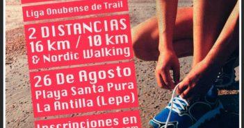 Cartel del Trail Arenas de Nueva Umbría.