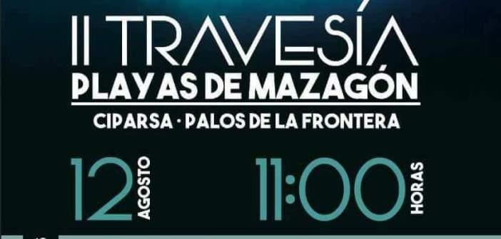 Cartel de la II Travesía a nado Playas de Mazagón.