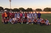 Jugadoras del Cajasol Sporting A y B.