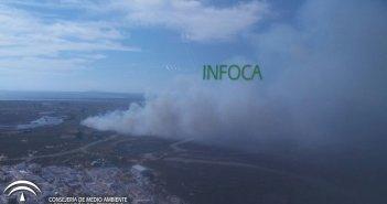 Incendio en Isla Canela