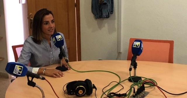 La Delegada de Festejos en Radio Isla Cristina