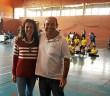 Manuela Escobar junto a Sergio Pardo durante los encuentros