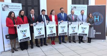 Presentación del Campeonato de Europa de bádminton en Huelva.